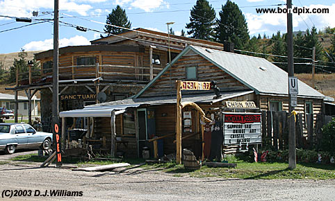 The mining town of P'burg in Montana