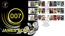 Ian Fleming Centenary stamp covers