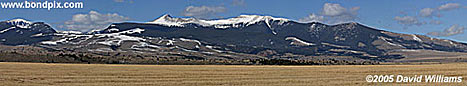 Panoramic photo of Mount Powell in Montana